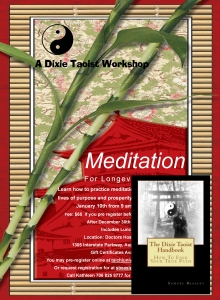 dixie taoist workshop with book cover
